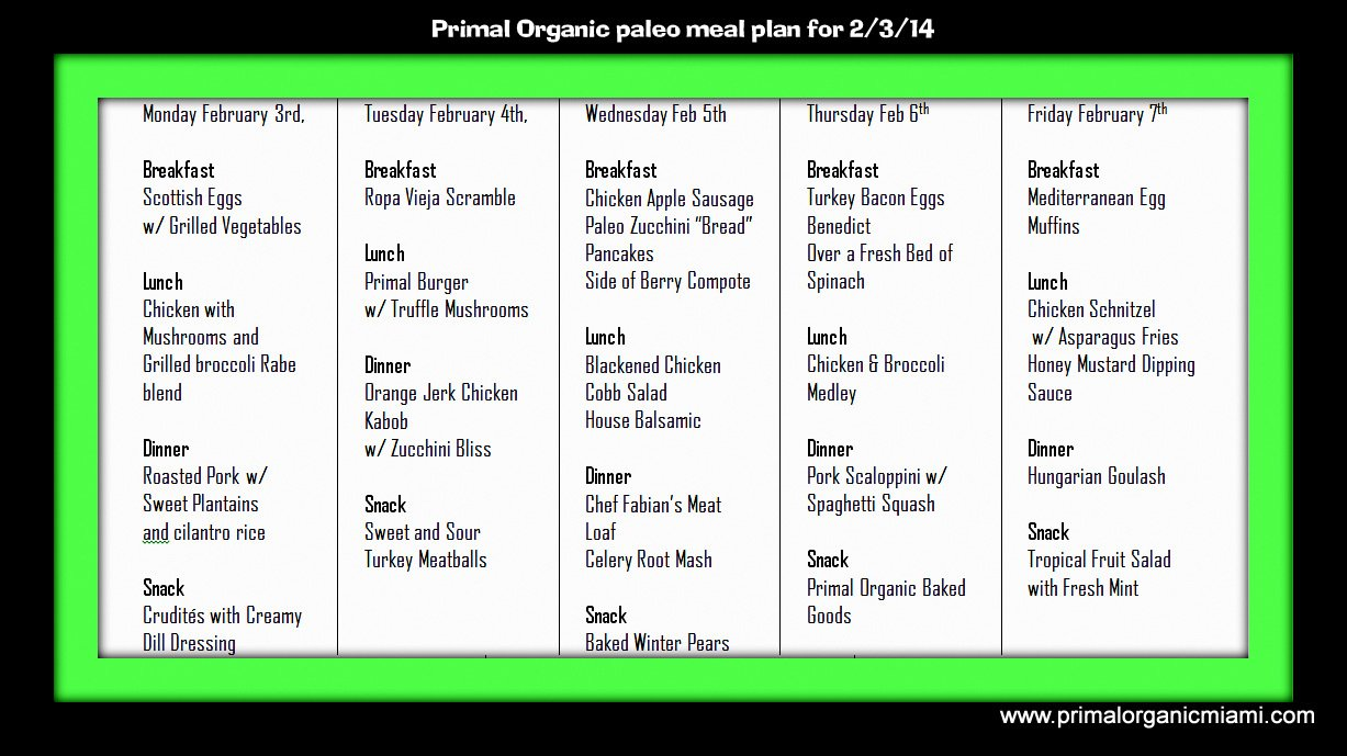 Diet meal plan 14 days of