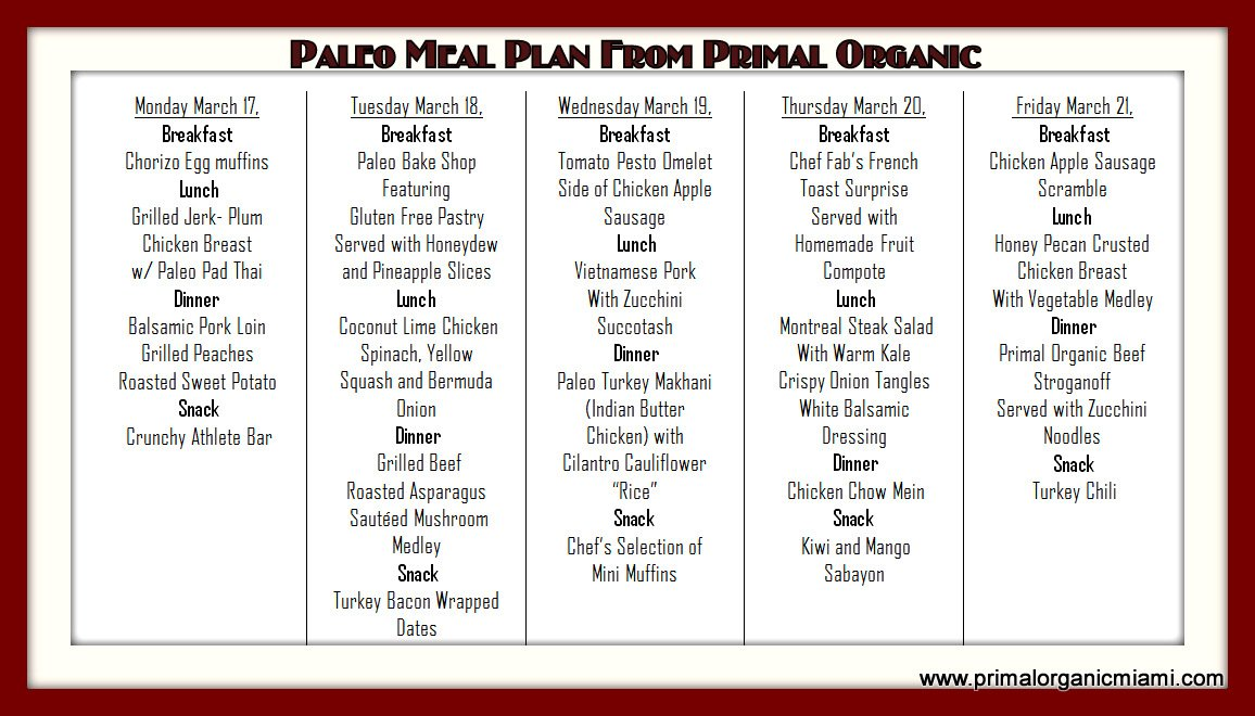 Simple paleo diet menu plan / Nutrisystem vanilla shake ...