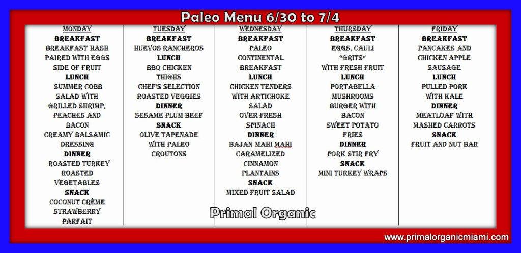 4th of July Paleo Menu