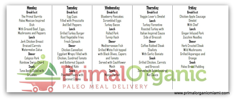 Paleo Meal Plan by Primal Organic