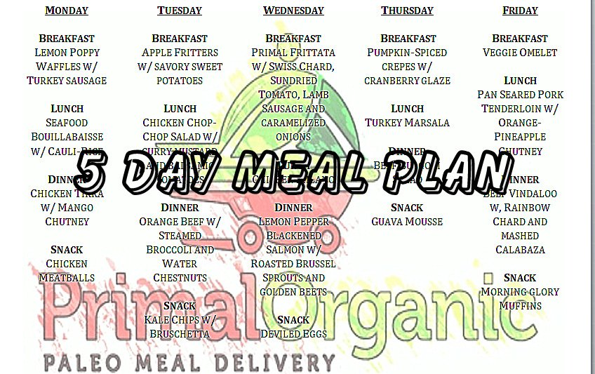 Order paleo diet delivery in Miami from Primal Organic